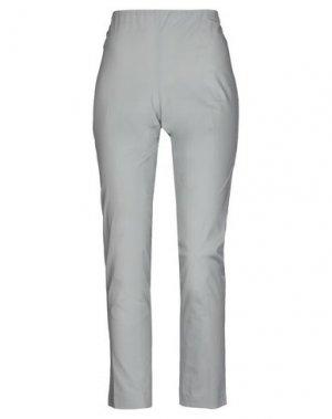 Повседневные брюки LABORATORIO. Цвет: светло-серый