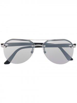 Солнцезащитные очки-авиаторы C Dècor Cartier Eyewear. Цвет: черный