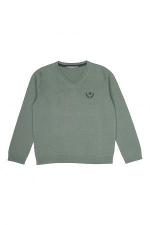 Хлопковый пуловер Bonpoint. Цвет: зеленый