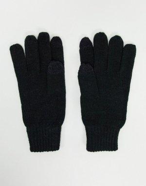 Черные перчатки от комплекта для сенсорных экранов с логотипом FCUK -Черный French Connection