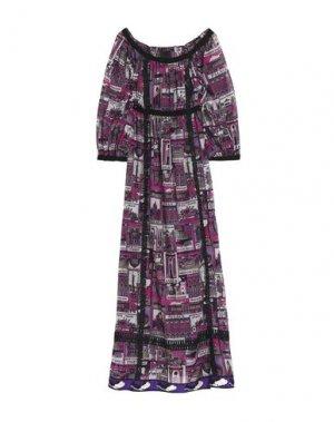 Платье до колена ANNA SUI. Цвет: розовато-лиловый
