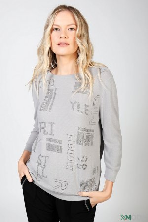 Пуловер Monari. Цвет: серый