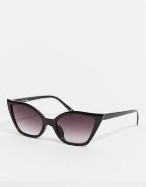 Черные солнцезащитные очки кошачий глаз -Черный цвет Jeepers Peepers
