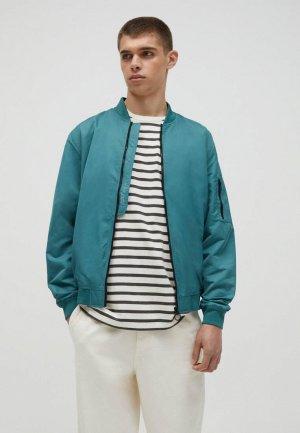 Куртка Pull&Bear. Цвет: бирюзовый
