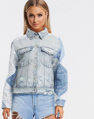 Голубая джинсовая куртка Blank NYC-Синий NYC