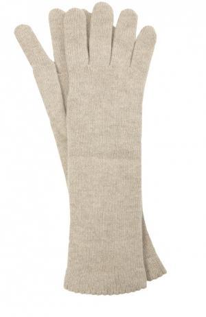 Удлиненные перчатки из кашемира Inverni. Цвет: светло-бежевый