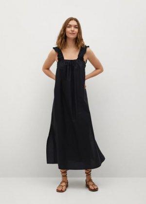 Миди-платье 100% хлопок - Delos Mango. Цвет: черный