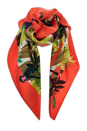 Шелковый платок с принтом Monkey Forest из коллекции Neonature VALENTINO GARAVANI. Цвет: мульти