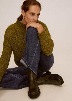 Кожаные ботинки челси - Colina Mango. Цвет: зеленый