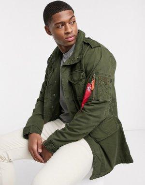 Нейлоновая куртка -Зеленый Alpha Industries