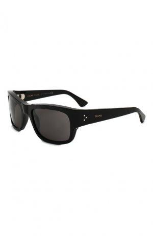 Солнцезащитные очки Celine Eyewear. Цвет: чёрный