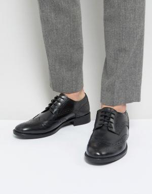 Черные кожаные броги Frank Wright. Цвет: черный
