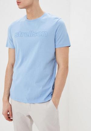 Футболка Strellson. Цвет: голубой