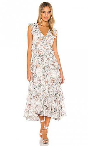 Платье миди nelly Bardot. Цвет: ivory