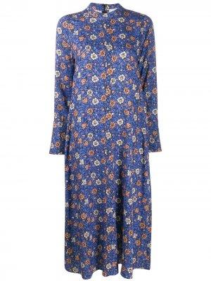 Платье с длинными рукавами цветочным принтом Alysi