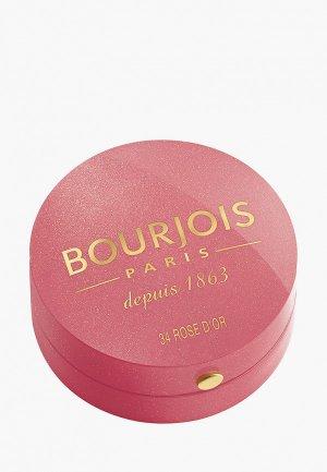Румяна Bourjois Blusher, Тон 34, rose d`or. Цвет: розовый