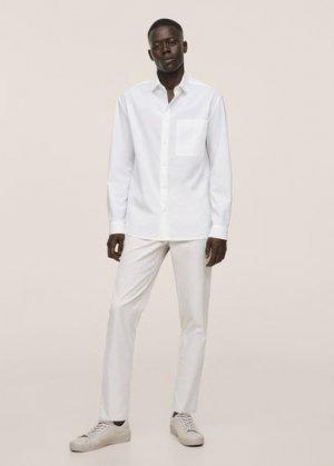 Укороченные брюки-чинос slim fit - Dublin Mango. Цвет: пастельный светло-серый