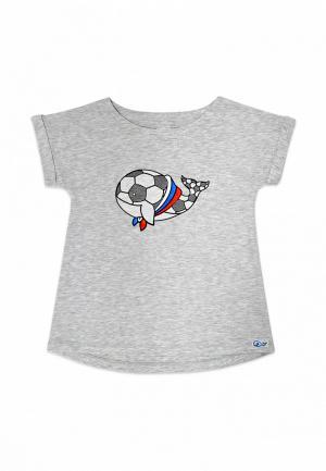 Футболка Кит. Цвет: серый