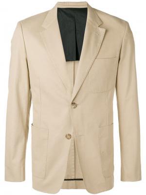 Пиджак на двух пуговицах с частичной подкладкой AMI Paris. Цвет: нейтральные цвета