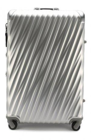 Дорожный чемодан 19 Degree Aluminum Tumi. Цвет: серебряный