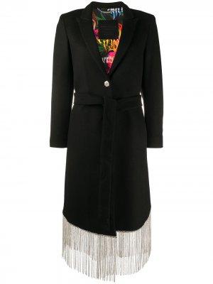 Пальто с бахромой Philipp Plein. Цвет: черный