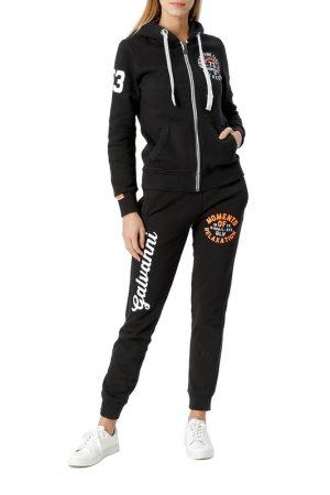 Спортивный костюм Galvanni. Цвет: черный