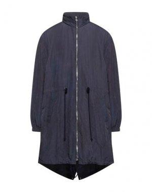 Легкое пальто BAND OF OUTSIDERS. Цвет: темно-синий