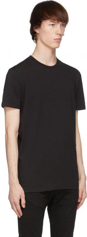 Black Round Neck T-Shirt Dsquared2. Цвет: 001 black