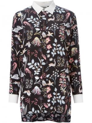 Рубашка с цветочным принтом Emma Cook. Цвет: чёрный