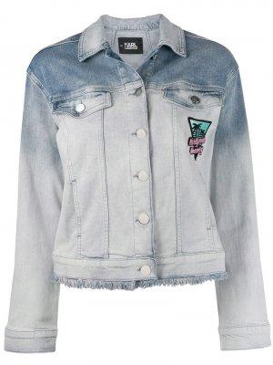 Джинсовая куртка Karlifornia Karl Lagerfeld. Цвет: синий