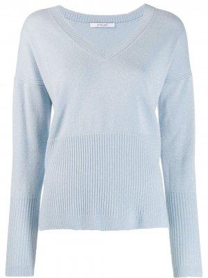 Кашемировый свитер Twilight с V-образным вырезом Derek Lam 10 Crosby. Цвет: синий
