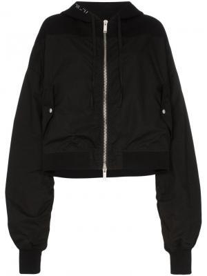 Куртка-бомбер с капюшоном и вышитым логотипом Unravel Project