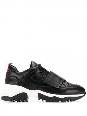 Кроссовки на липучке A.F.Vandevorst. Цвет: черный