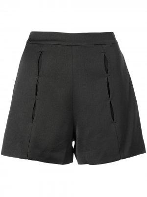 Короткие шорты с прорезями Alexis. Цвет: black