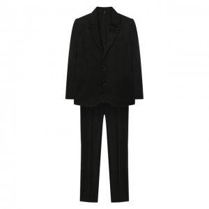 Костюм из пиджака и брюк Emporio Armani. Цвет: чёрный