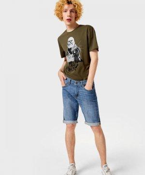 Джинсовые шорты O`Stin. Цвет: голубой