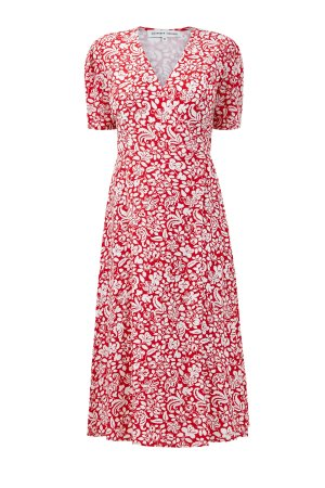 Платье на запах из шелкового шифона ALEXANDER TEREKHOV. Цвет: мульти