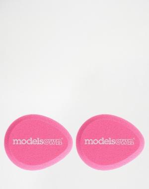 Набор из 2 губок каплевидной формы для смешивания Models Own. Цвет: бесцветный
