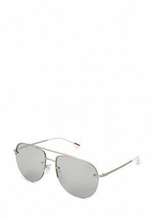 Очки солнцезащитные Prada Linea Rossa PS 53SS QFP2B0. Цвет: серебряный