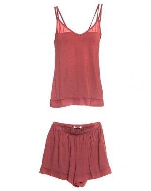 Пижама FEMILET. Цвет: кирпично-красный