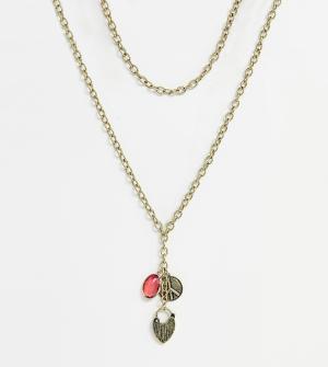 Золотистое ожерелье с подвесками и массивной цепочкой -Золотой Liars & Lovers