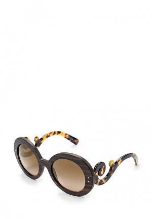 Очки солнцезащитные Prada PR 27RS UBT4O2. Цвет: коричневый