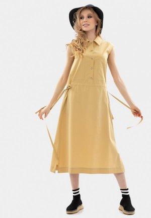 Платье Энсо. Цвет: бежевый
