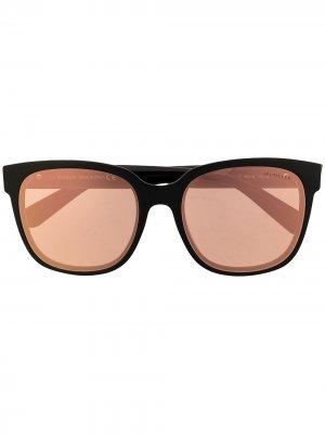 Солнцезащитные очки с зеркальными линзами Moncler Eyewear. Цвет: черный