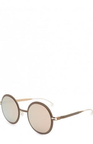 Солнцезащитные очки Mykita. Цвет: золотой
