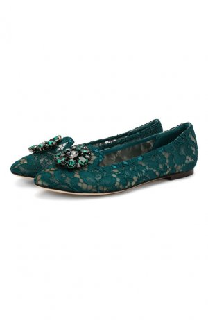 Текстильные слиперы Rainbow Lace Dolce & Gabbana. Цвет: синий