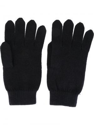 Перчатки в рубчик N.Peal. Цвет: синий