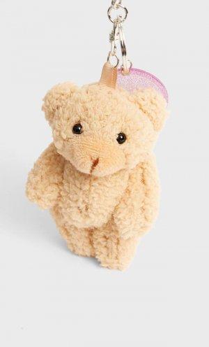 Брелок «Медвежонок» Цвет Небеленого Полотна 103 Stradivarius. Цвет: цвет небеленого полотна