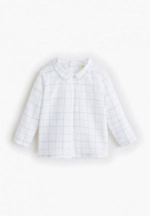 Рубашка Mango Kids - SAMI. Цвет: белый