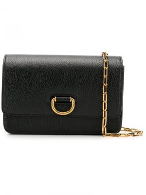 Мини-сумка с D-образной бляшкой Burberry. Цвет: черный